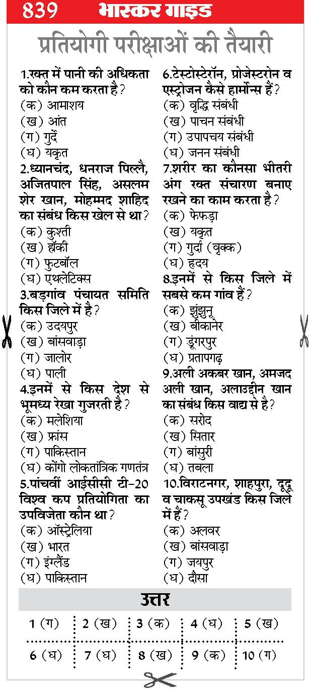 General Knowledge in Hindi PDF Gk in Hindi Download - 03 - GK in Hindi 2020 - Samanya Gyan 2020