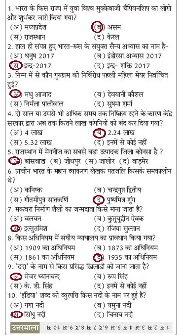 GK in Hindi 2020 Study material Notes General Knowledge Set-07 1